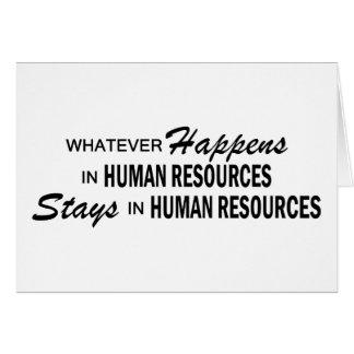 Lo que sucede - los recursos humanos tarjetas
