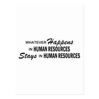 Lo que sucede - los recursos humanos tarjetas postales