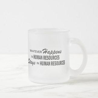 Lo que sucede - los recursos humanos taza de cristal