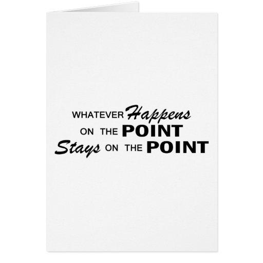 Lo que sucede - punto tarjeta de felicitación