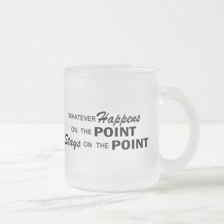 Lo que sucede - punto taza de café esmerilada