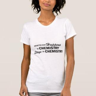 Lo que sucede - química camiseta
