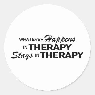 Lo que sucede - terapia pegatina redonda
