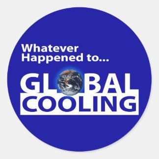 ¿Lo que sucedió al enfriamiento global? Pegatina Redonda