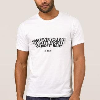 Lo que usted consiguió a camiseta por la piel de playeras