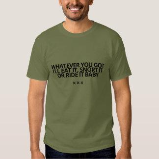 Lo que usted consiguió a camiseta por la piel de polera