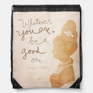 Lo que usted es, sea buen - estilo del camafeo mochilas
