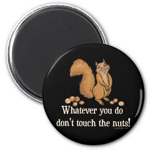 ¡Lo que usted lo hace, no toque las nueces! Iman De Frigorífico