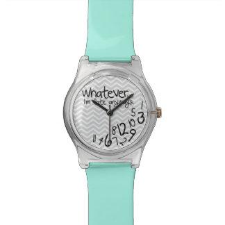 Lo que yo son atrasados de todos modos - azul y g reloj de mano