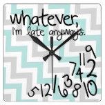 Lo que, yo son atrasados de todos modos - galón az relojes de pared