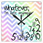 lo que, yo son atrasados de todos modos - galón de reloj