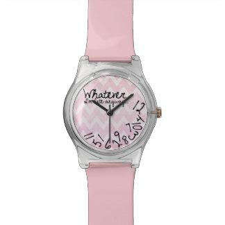 Lo que, yo son atrasados de todos modos - modelo relojes de pulsera