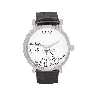 lo que, yo son atrasados de todos modos - negro relojes de pulsera