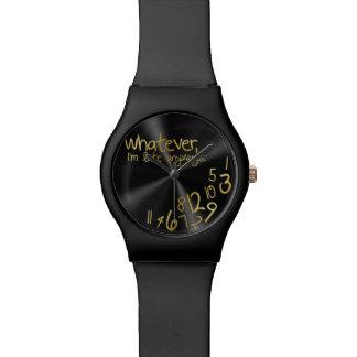 Lo que, yo son atrasados de todos modos - negro y relojes