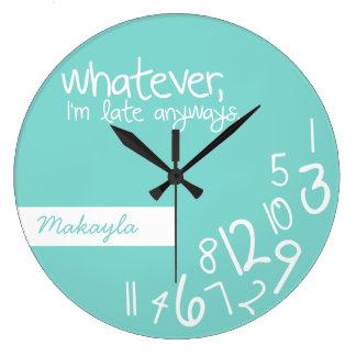 lo que, yo son atrasados de todos modos reloj de pared