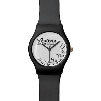 Lo que, yo son atrasados de todos modos reloj de mano