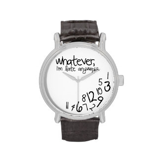 Lo que yo son atrasados de todos modos relojes