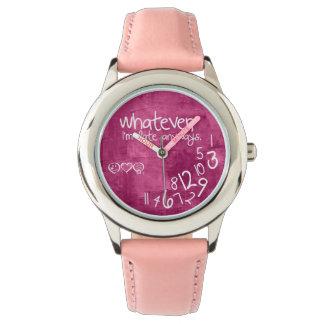 lo que, yo son atrasados de todos modos relojes de pulsera
