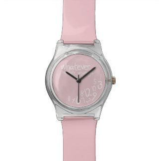 Lo que, yo son atrasados de todos modos - rosa reloj