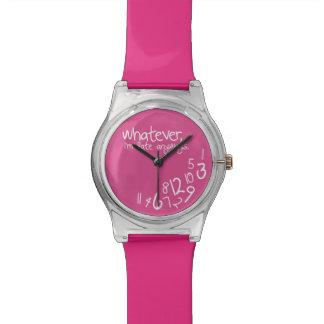 Lo que yo son atrasados de todos modos - rosa reloj de mano