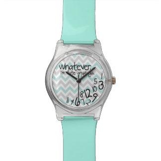 Lo que, yo son atrasados de todos modos - turquesa relojes de mano