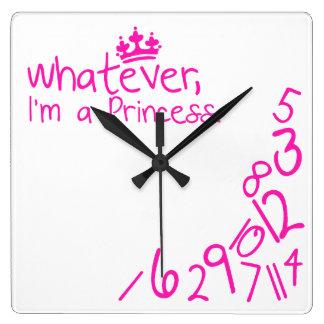 Lo que, yo son princesa reloj de pared