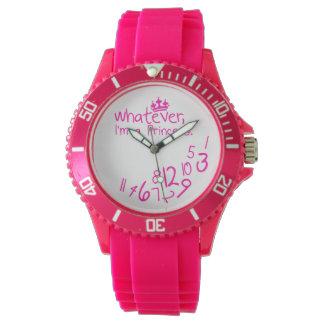 lo que, yo son princesa relojes de pulsera