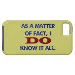 Lo sé todo iPhone 5 Case-Mate coberturas