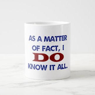Lo sé todo taza de café gigante
