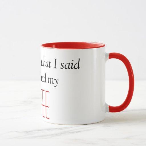 Lo siento para lo que dije antes de que comiera mi taza