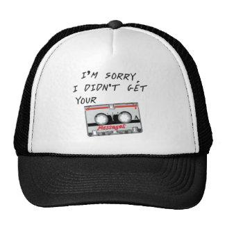 Lo siento que no conseguí sus mensajes gorras de camionero