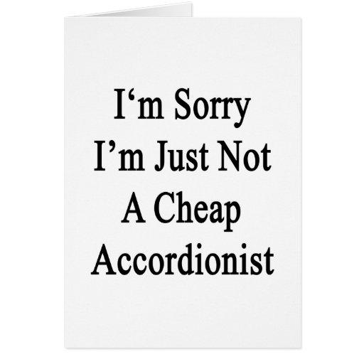 Lo siento que no soy apenas acordeonista barato tarjeton