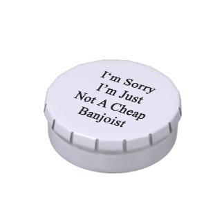 Lo siento que no soy apenas Banjoist barato Frascos De Caramelos