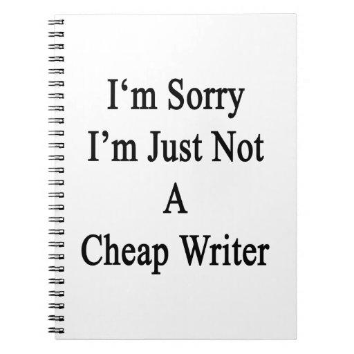 Lo siento que no soy apenas escritor barato libros de apuntes