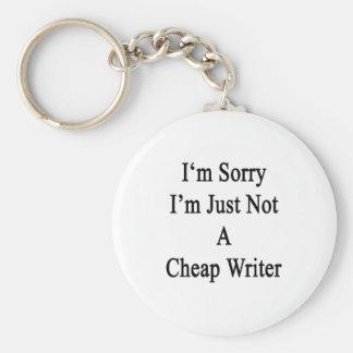 Lo siento que no soy apenas escritor barato llaveros personalizados
