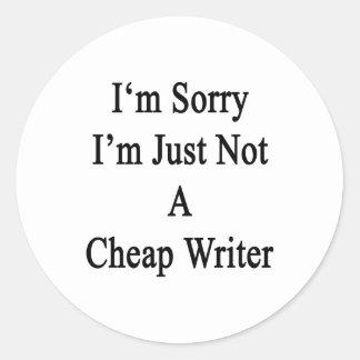 Lo siento que no soy apenas escritor barato pegatina redonda