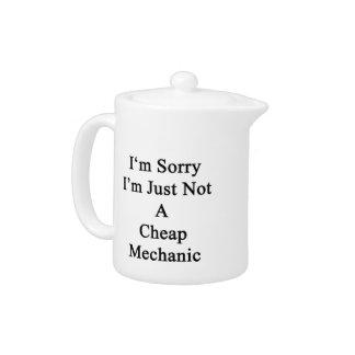 Lo siento que no soy apenas mecánico barato
