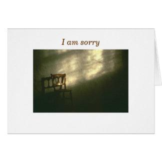 Lo siento tarjeta de felicitación