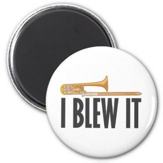 Lo soplé Trombone Imán Redondo 5 Cm
