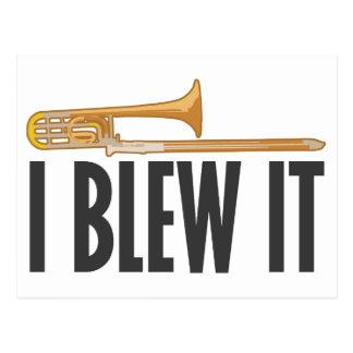 Lo soplé Trombone Tarjeta Postal