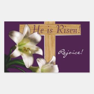 ¡Lo suben!  Pegatinas de Pascua Rectangular Pegatina