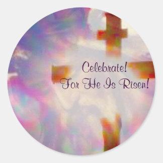 ¡Lo suben!  Pegatinas de Pascua Pegatina Redonda