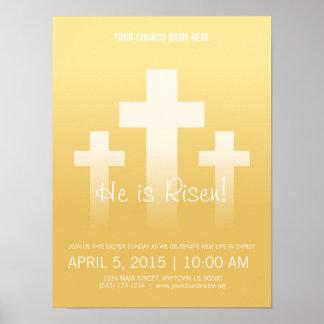 ¡Lo suben! Poster adaptable de pascua domingo Póster