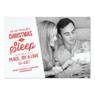 """Lo único que queremos para el navidad es tarjeta invitación 5"""" x 7"""""""