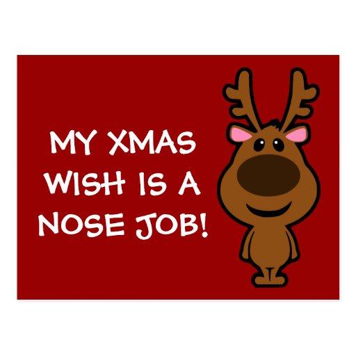 Lo único que quiero para el navidad es cirugía plá tarjeta postal
