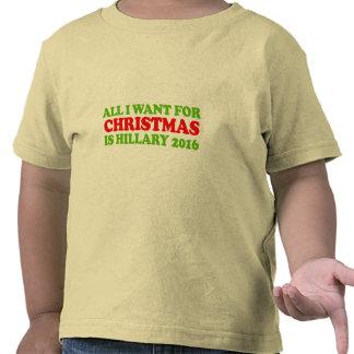 Lo único que quiero para el navidad es Hillary Camiseta