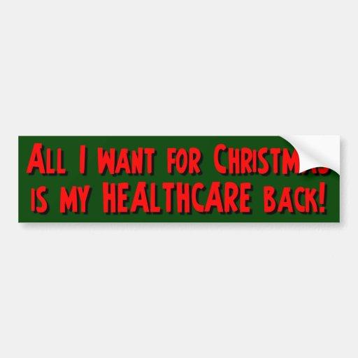 ¡Lo único que quiero para el navidad es mi parte p Pegatina De Parachoque