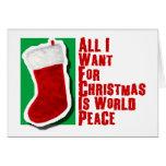 Lo único que quiero para el navidad es paz de mund felicitacion