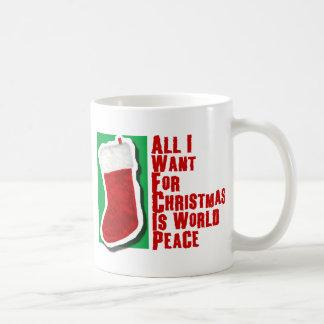 Lo único que quiero para el navidad es paz de taza de café