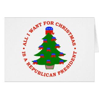 Lo único que quiero para el navidad es presidente  tarjeton
